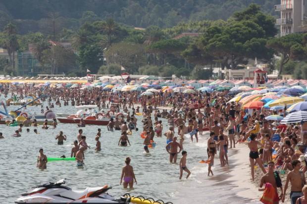 Crowded Mondello beach