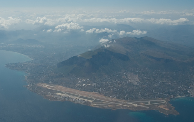 Palermo airport overview