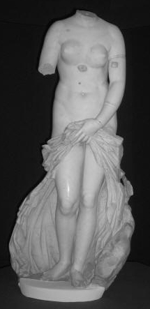The statue of the Landolina Venus, in the Paolo Orsi Museum in Syracuse