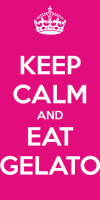 Keep calm and eat gelato